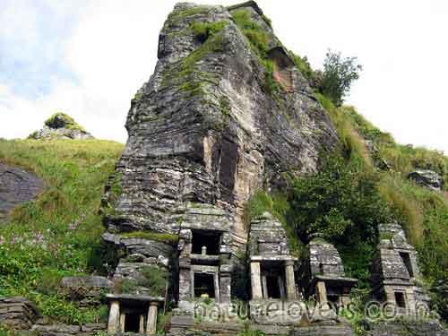 Rudranath temple. One can reach at Rudranath temple by trekking 20 kilometers form Sagar Village.